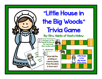 """""""Little House in the Big Woods"""" Comprehension Board Game [Laura Ingalls Wilder]"""