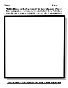 """Little House in the big woods"" by Laura Ingalls Wilder Worksheet Packet"