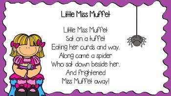 """""""Little Miss Muffet"""" retell packet"""