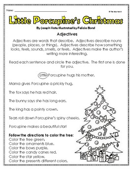 """Little Porcupine's Christmas"" Activities for Reading, Writing, and Fun"