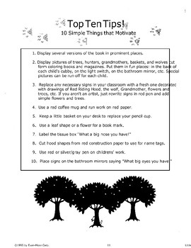 """Little Red Riding Hood"": Classroom Management"