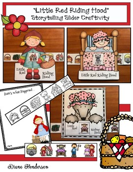 """Little Red Riding Hood"" Fairy Tale Craft For Sequencing & Retelling"
