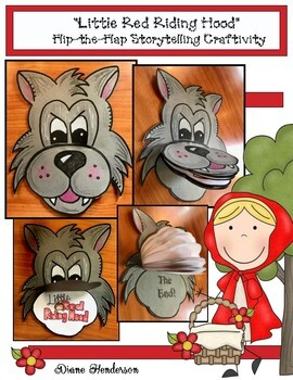 """""""Little Red Riding Hood"""" Flip-a-Flap Fairy Tale Craft (Sequencing & Retelliing)"""
