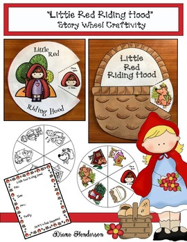 """""""Little Red Riding Hood"""" Story Wheel Craft (Sequencing & Retelling a Story)"""
