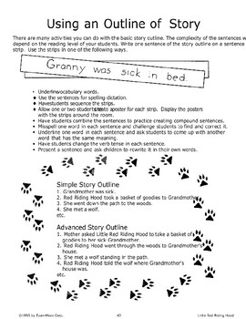 """""""Little Red Riding Hood"""": Using an Outline"""