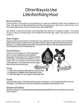"""Little Red Riding Hood"": Ways to Use the Story"