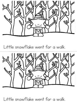 """""""Little Snowflake"""" Emergent Reader (A Winter/December/January Dollar Deal)"""