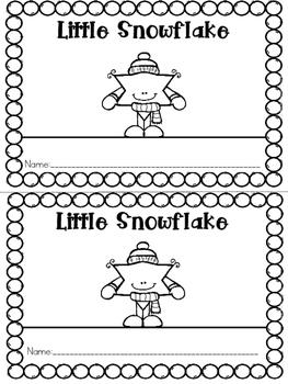 """""""Little Snowflake"""" Emergent Reader (A Winter/December/Janu"""
