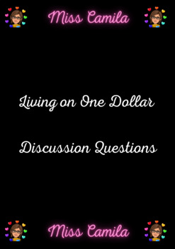 """Living On One Dollar"" Discussion Questions"