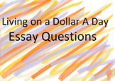 """""""Living on a Dollar a Day"""" Essay Questions"""