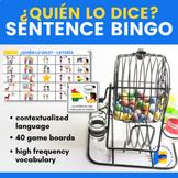 ¿Lo dice o lo dijo? LOTERIA/BINGO in Spanish with sentences