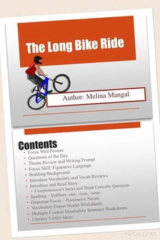 """Long Bike Ride"" Unit, Storytown 6th Grade, Figurative Language, Centers & More"