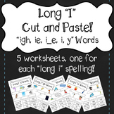 """Long I"" Cut and Paste! ""igh, ie, i_e, i, y"""