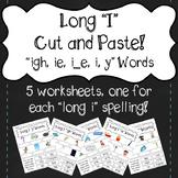 """Long I"" Cut and Paste! ""igh, ie, i_e, i, y"""