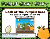 """""""Look At the Pumpkin Seed"""" Full Size Emergent Reader and E"""