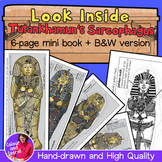"""Look Inside Tutankhamun's Sarcophagus"" Ancient Egypt Mini Book Mummy/Pharaoh"