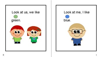 """""""Look at Me"""" Sight Word and Color Word Book"""