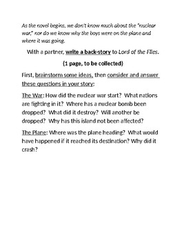 """""""Lord of the Flies"""" Back Story"""