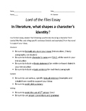 """Lord of the Flies"" Essay Assignment"