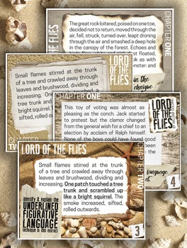 {Lord of the Flies} Figurative Language TASK CARDS