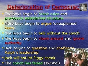 """""""Lord of the Flies"""" Powerpoint Notes"""