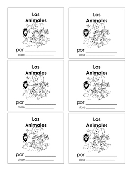 """Los Animales"" Spanish Animal Booklet"