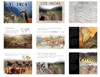 """Los Incas"" – Original Printable Spanish Book/Slideshow (510L Lexile)"