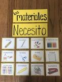 """""""Los materiales"""" classroom supply flashcards"""