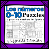 ¡Los números 0 - 10!  Puzzles to practice numbers in Spanish