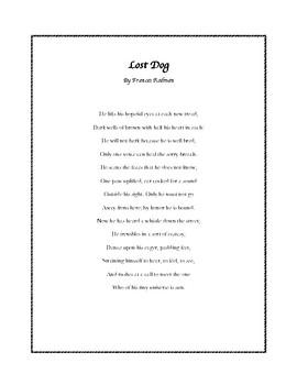 """Lost Dog"" Poem Activity"