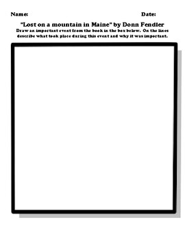 """Lost on a mountain in Maine"" by Donn Fendler Worksheet Packet"