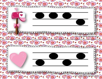 """""""Love Letters"""" - A Valentine's Day 'Write the Room' Melodic Activity - So Mi"""