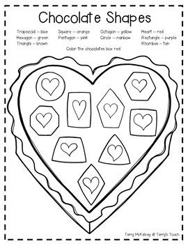 """Love Monster"" Math, Literacy and Valentine Bag"
