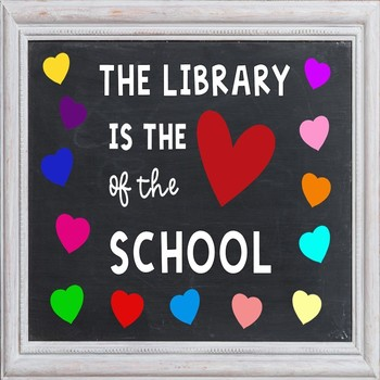 """Love My Library"" Bulletin Board Templates"