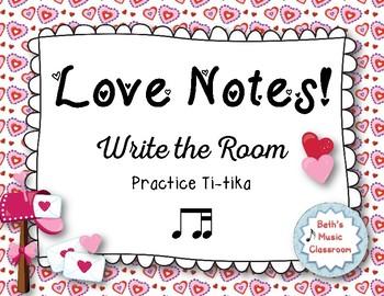 """Love Notes"" - A Valentine's Day 'Write the Room' Activity - Ti-tika"
