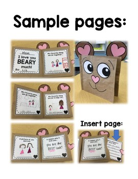 """""""Love You Beary Much"""" Brown Bag Book Valentine for Parents/Guardians"""