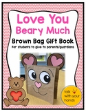 """Love You Beary Much"" Brown Bag Book Valentine for Parents"