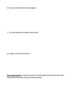 """""""Love"""" by William Maxwell: Worksheet (or Test) with Detailed Answer Key"""