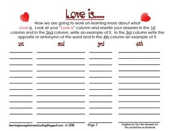 """""""Love is....""""   1 Corinthians 13 5 day Unit Study"""