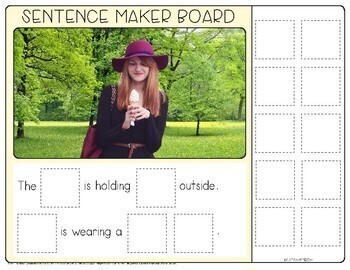 Sentence Maker Boards: Forming Sentences with Pics
