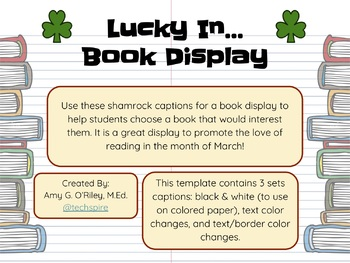 """""""Lucky In . . ."""" Book Display"""