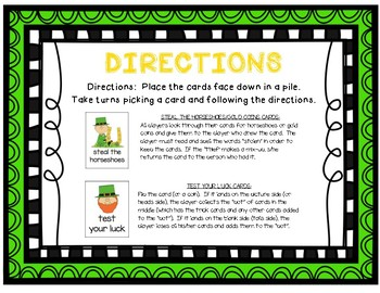 """Lucky Leprechaun"" ~ A St. Patrick's Day-Themed CONSONANT BLENDS Phonics Game"