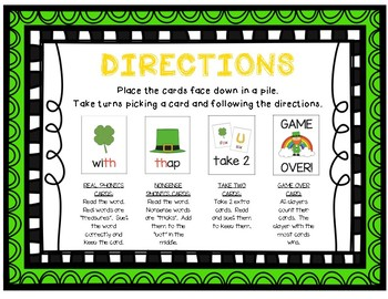 """""""Lucky Leprechaun"""" ~ A St. Patrick's Day-Themed DIGRAPHS Phonics Game"""
