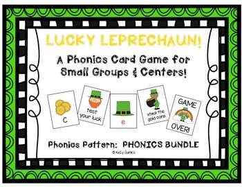 """""""Lucky Leprechaun"""" ~ Phonics Game BUNDLE (letters, CVC, blends, digraphs, CVCe)"""