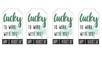 """""""Lucky to Work with You"""" Staff Gift Tag"""