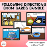 Following Directions Boom Cards Bundle | Speech and Language