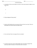 """""""Luther"""" Movie Study Questions"""