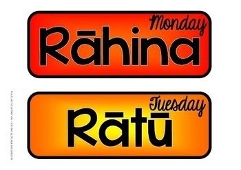 Maori Days of the Week - Nga Ra o te Wiki