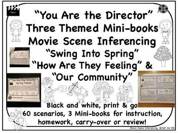 Inferencing Movie Scenes NO PREP Spring, Emotions, Community Mini-Book Scenarios