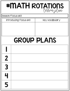 #MATH Lesson Plan Templates
